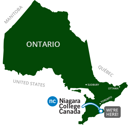 We are located in the Niagara Region in Ontario